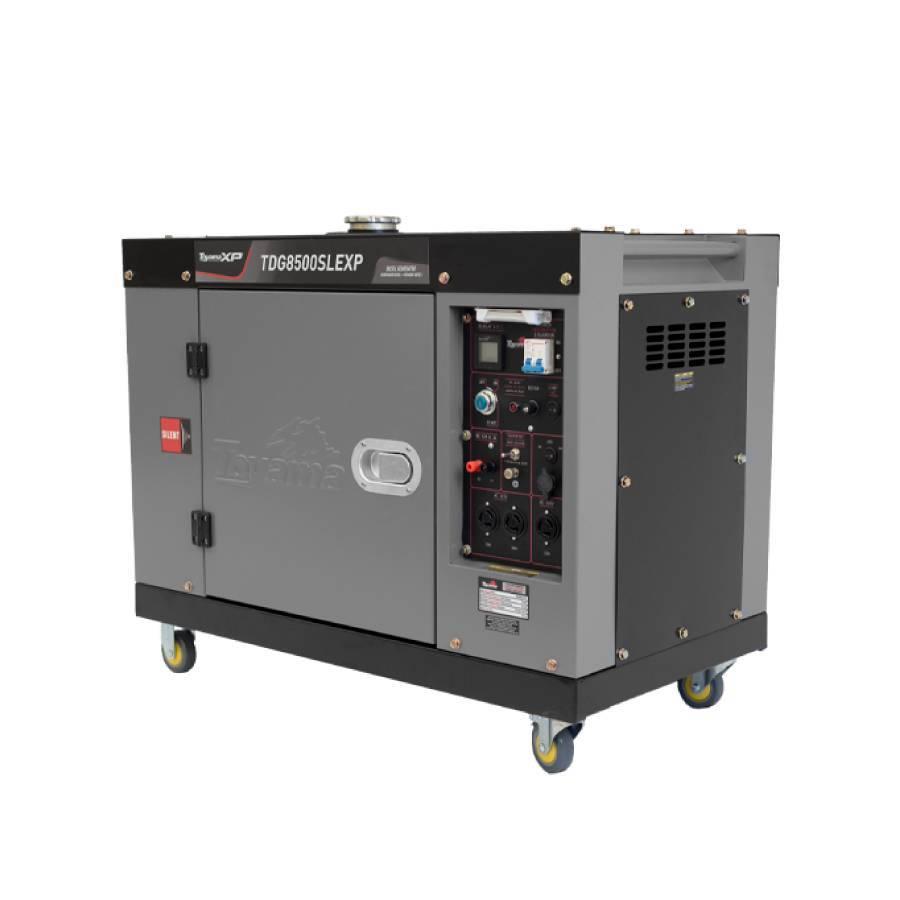 Gerador a Diesel Cabinado Bivolt 6.5 kVA Toyama - CASA DO FRENTISTA