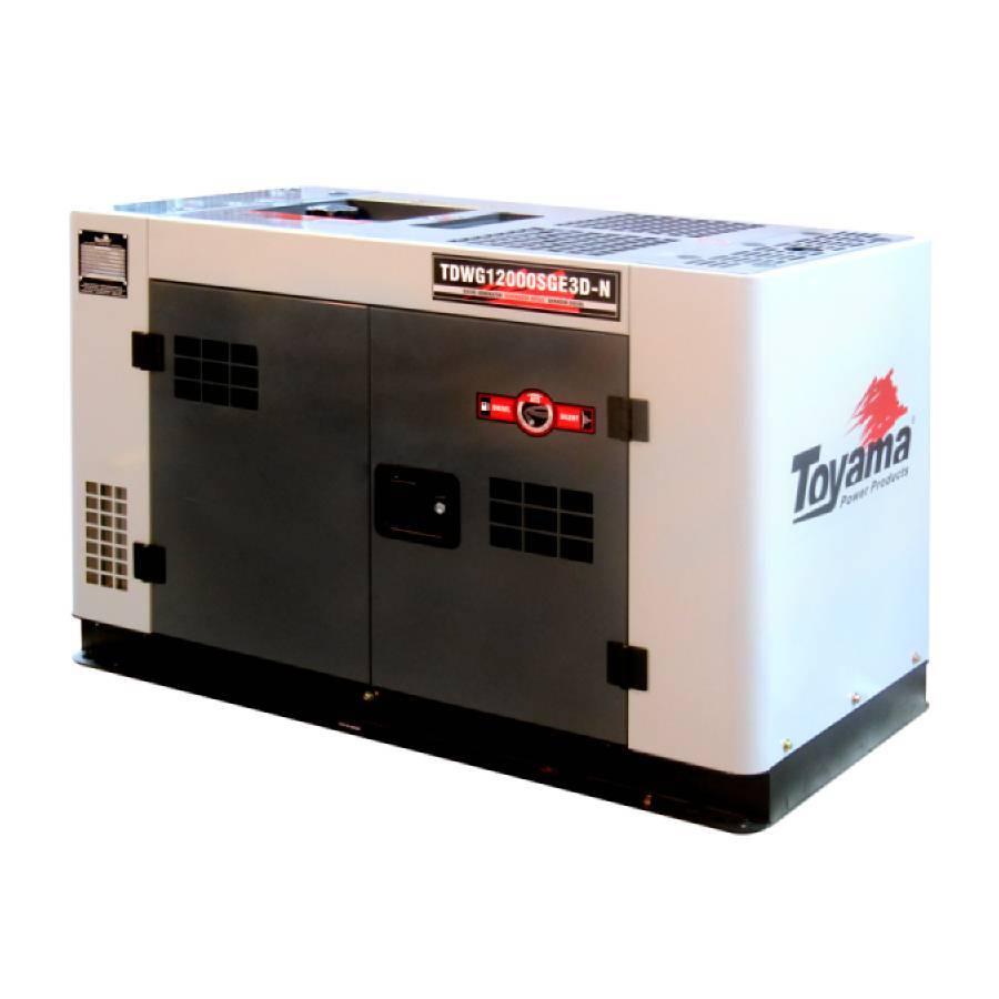 Gerador a Diesel 12.5 kVA Toyama TDWG12000SGE3D-N  - CASA DO FRENTISTA