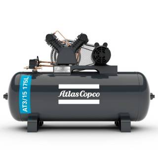 Compressor 15 Pés 175L 3HP Monofásico AtlasCopco AT3/15 175L