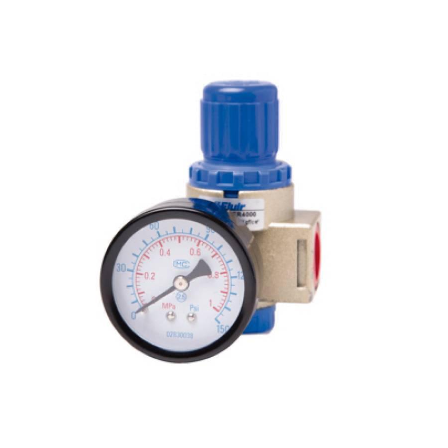 Regulador de pressão 1/4 AER2000 Fluir - CASA DO FRENTISTA