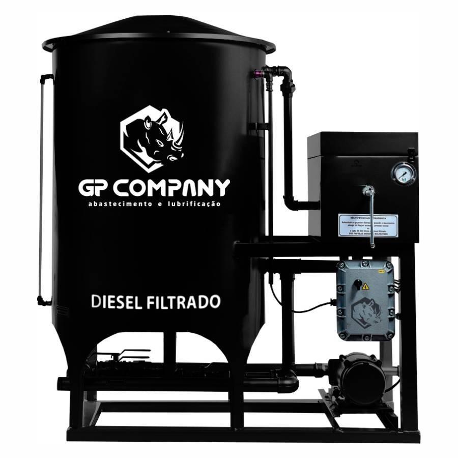 Filtro Prensa Simples para Diesel 4800L/hr Preto GP Company - CASA DO FRENTISTA