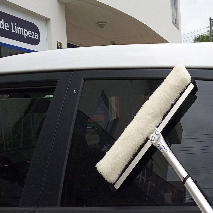 Rodo Limpa Vidros 35cm com Cabo para Janelas e Para-brisas - CASA DO FRENTISTA