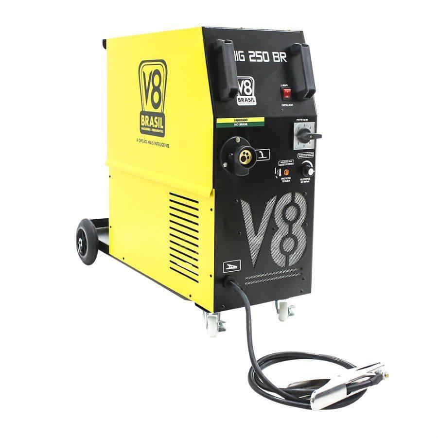 Máquina de Solda MIG 250BR 220V Monofásica 60HZ C/Tocha Eu - CASA DO FRENTISTA