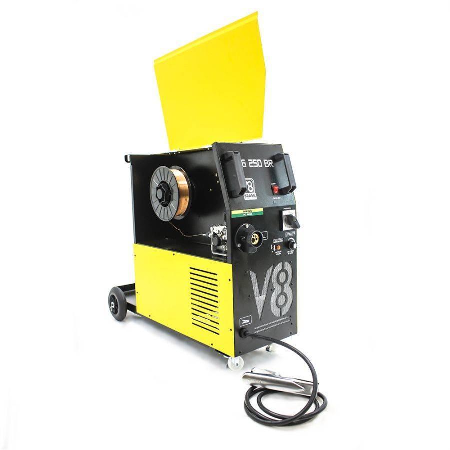 Kit Máquina de Solda 220V, Tocha e Regulador de Pressão V8 - CASA DO FRENTISTA