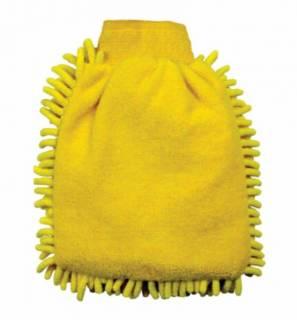 Esponja Tipo Luva em Microfibra Amarela 250x180mm Lupus 0366