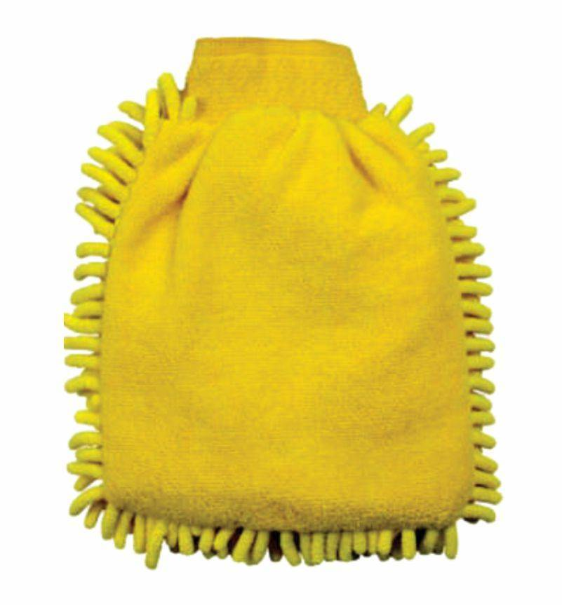 Esponja Tipo Luva em Microfibra Amarela 250x180mm Lupus 0366 - CASA DO FRENTISTA