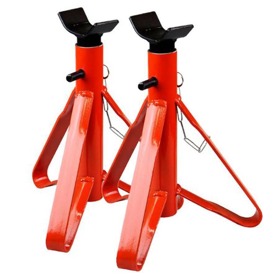 Kit 2 Cavalete para Automóvel 2 toneladas Vermelho com Haste - CASA DO FRENTISTA