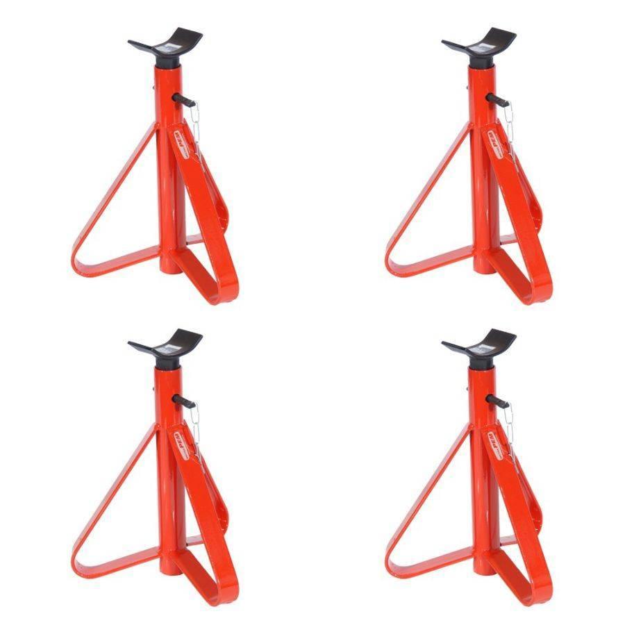 Kit 4 Cavalete para Automóvel 2 toneladas Vermelho com Haste - CASA DO FRENTISTA