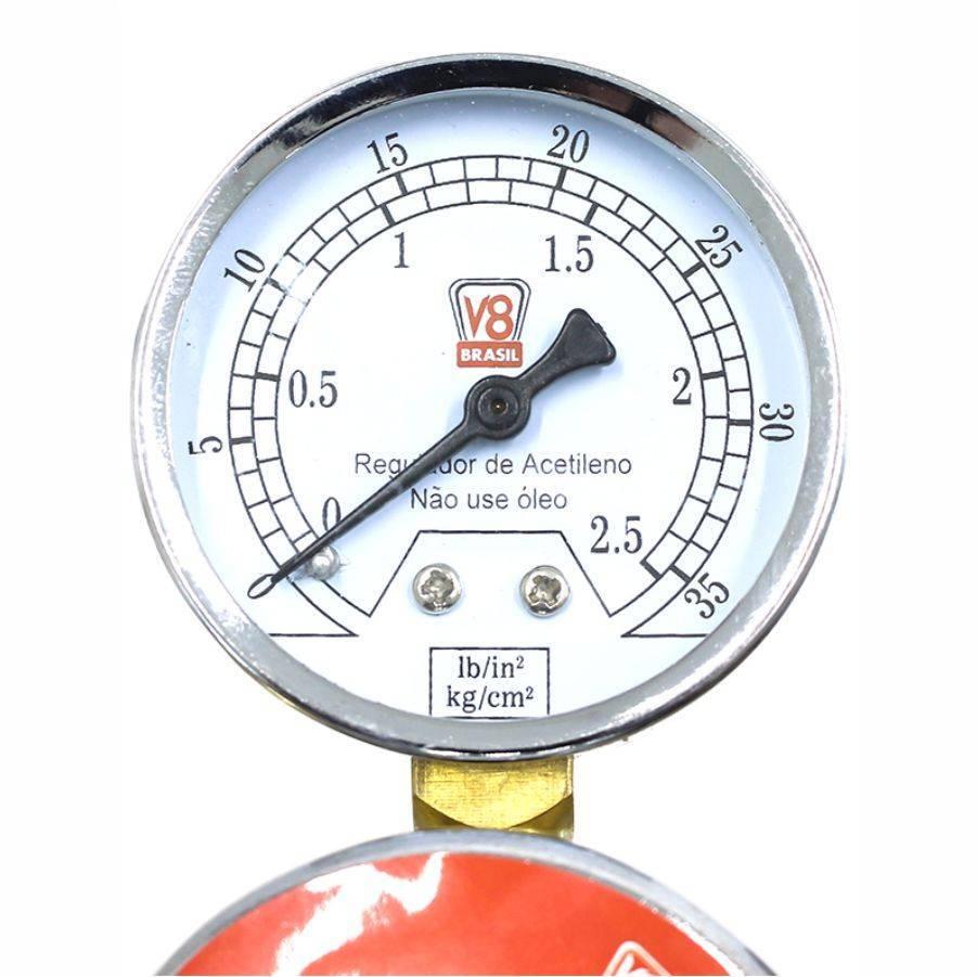 Regulador de Pressão Acetileno EX V8 - CASA DO FRENTISTA