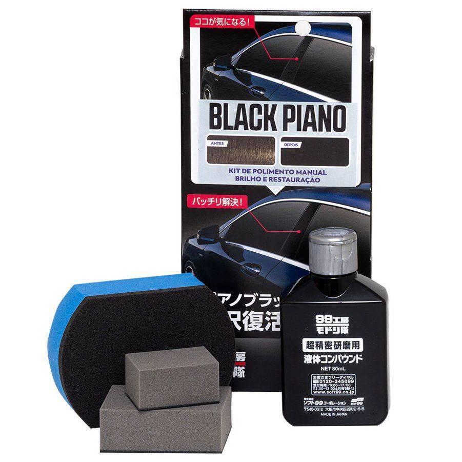 Polidor Manual Black Piano Nano Peças Acrílicas 09506 Soft99 - CASA DO FRENTISTA