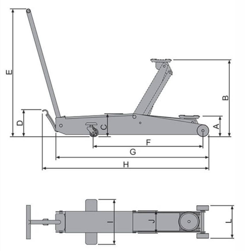 Macaco Hidráulico tipo Jacaré 2t Rebaixado  Bovenau J2600 - CASA DO FRENTISTA