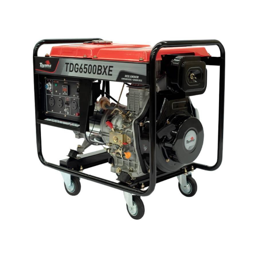 Gerador a Diesel 5.5 kVA Toyama TDG6500BXE bivolt 115/230v - CASA DO FRENTISTA