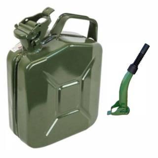 Kit Galão de Gasolina 5L em Metal e Extensão Rígida/Flexível
