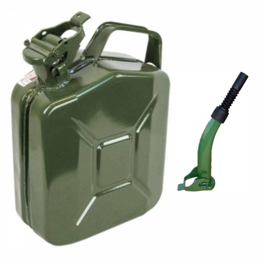 Kit Galão de Gasolina 5L em Metal e Extensão Rígida/Flexível - CASA DO FRENTISTA