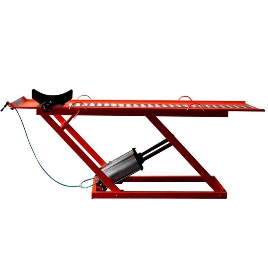 Elevador Rampa de motos Pneumática 2 Pistões Vermelho 350Kgs - CASA DO FRENTISTA