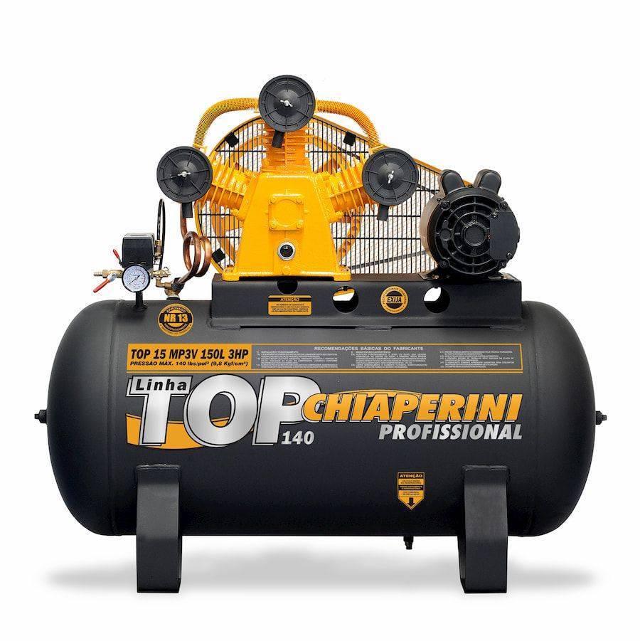 Compressor 15 Pés 150 Litros 140 Libras 3H Monofásico Chiape - CASA DO FRENTISTA