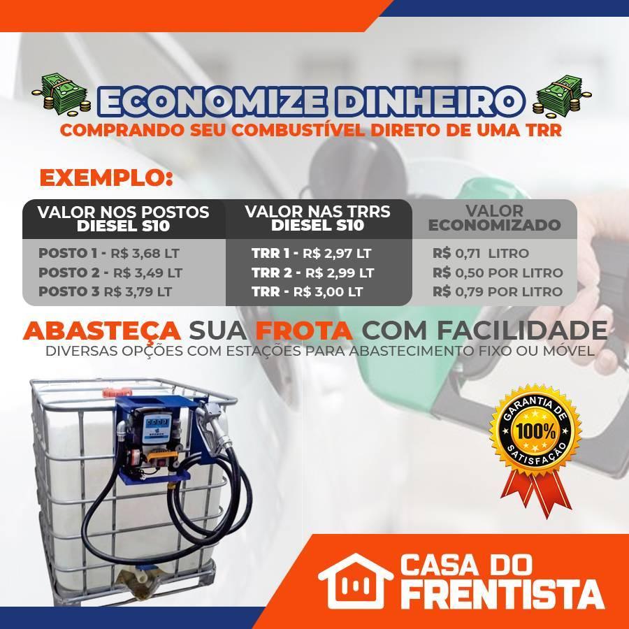 Conjunto para Abastecimento por Gravidade com Reservatório  - CASA DO FRENTISTA