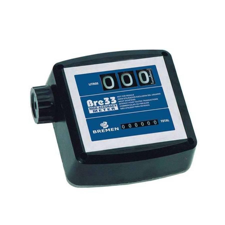 Medidor de Vazão Mecânico 3 Dígitos BRE 33 Bremen 7688 - CASA DO FRENTISTA