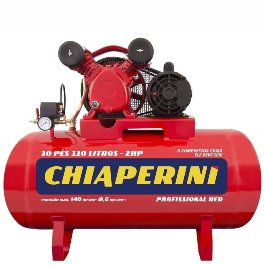 Compressor 10 pés 110 Litros Red Profissional Monofásico - CASA DO FRENTISTA