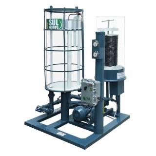 Filtro Prensa para Diesel Transparente Vazão 4800 L-Hr Cinza