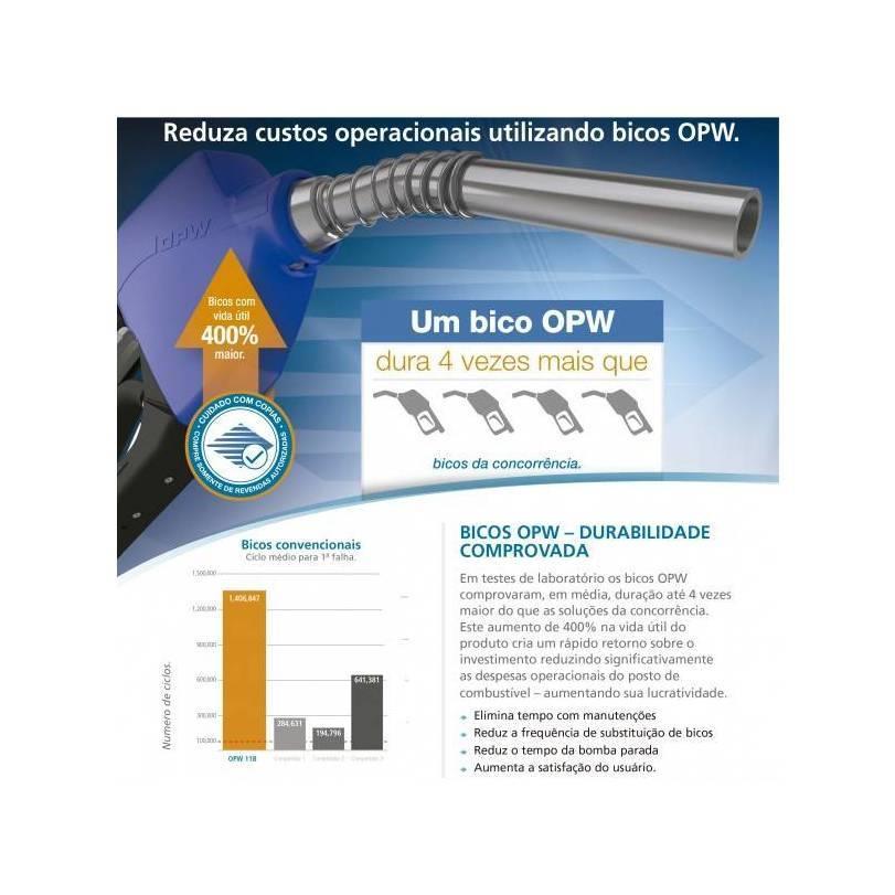Bico de Abastecimento Automático Preto Longo OPW 11AL  - CASA DO FRENTISTA