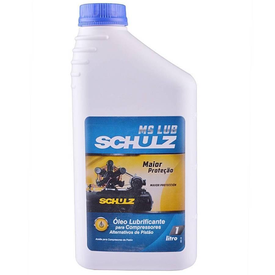 Óleo para Compressor de Ar 1 Litro Ms Lub Schulz - CASA DO FRENTISTA