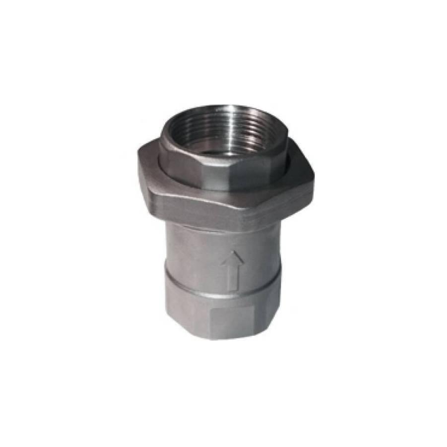 União Check Válvula de Retenção Aço inoxidável 1 1/2 Pol - CASA DO FRENTISTA