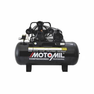 Compressor Motomil 15 pés 175 Litros 3HP 140lbs Monofásico