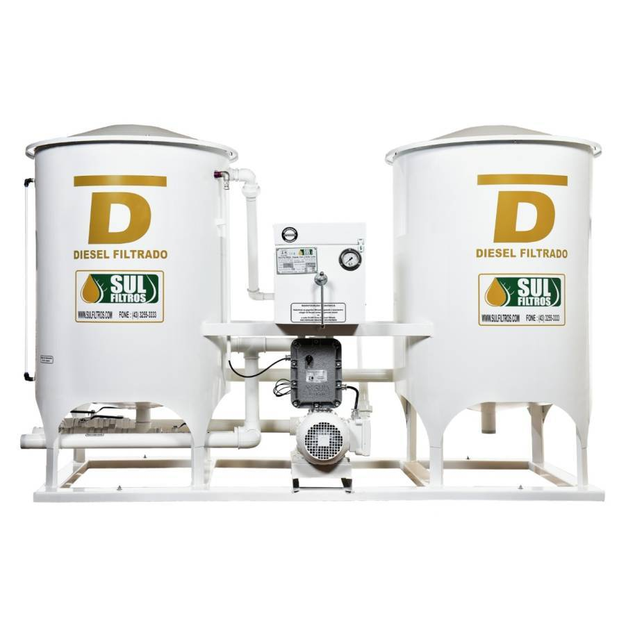 Filtro Prensa Duplo para Diesel SF14000-D Sul Filtros Branco - CASA DO FRENTISTA