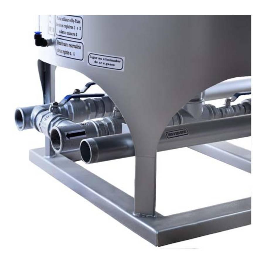 Filtro Prensa Simples para Diesel 4800L/hr Prata GP Company - CASA DO FRENTISTA