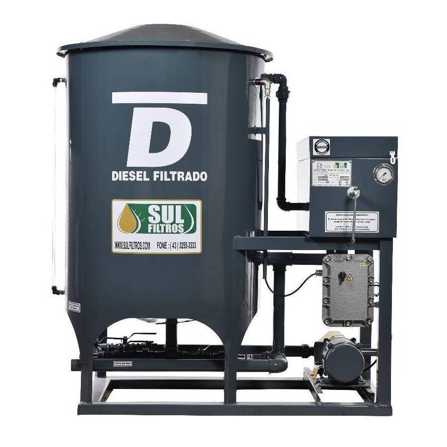 Filtro Prensa Simples para Diesel SF11000 Sul Filtros Cinza - CASA DO FRENTISTA