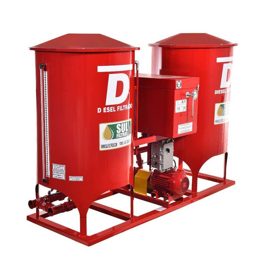 Filtro Prensa Duplo para Diesel SF14000-D Sul Filtros Vermel - CASA DO FRENTISTA