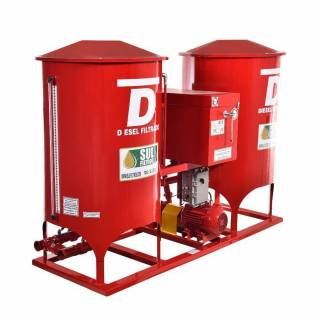 Filtro Prensa Duplo para Diesel SF22000-D Sul Filtros Vermelho