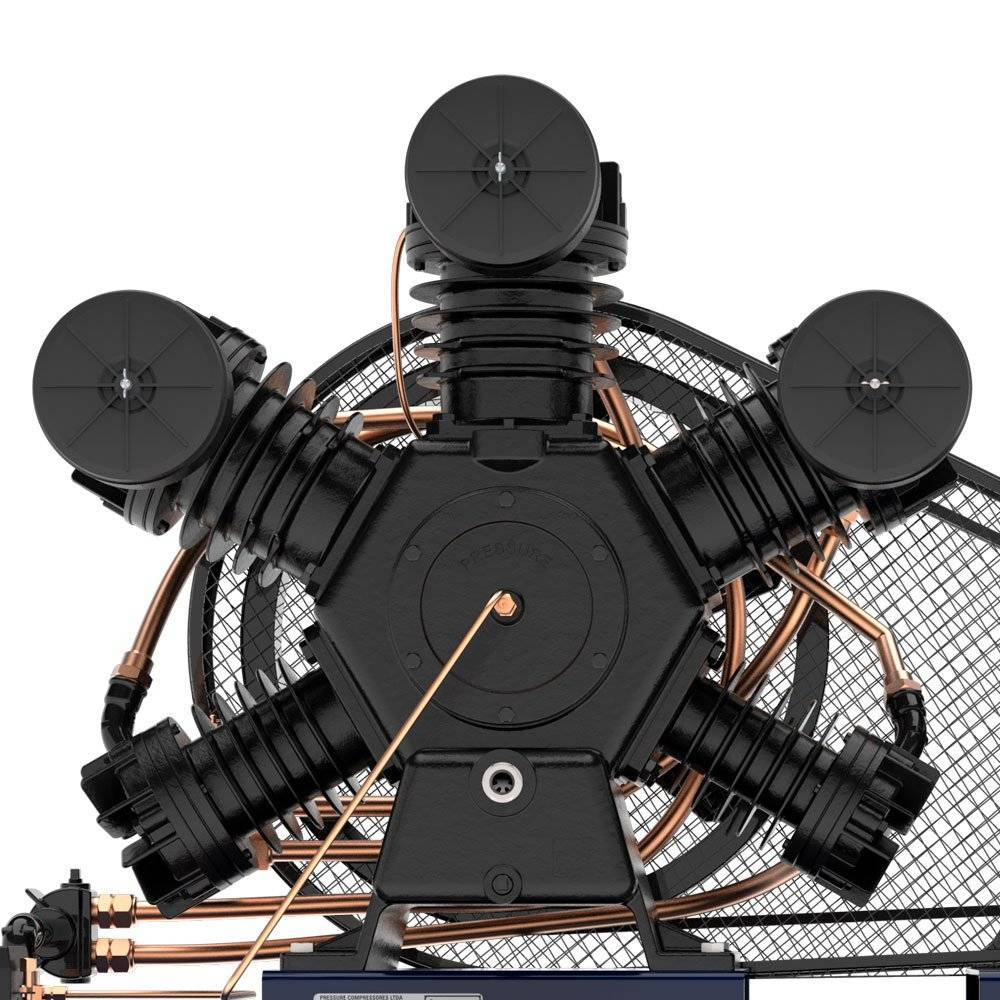 Compressor 60 pés Industrial 425Lts 15HP 175lbs 5 pistões  - CASA DO FRENTISTA
