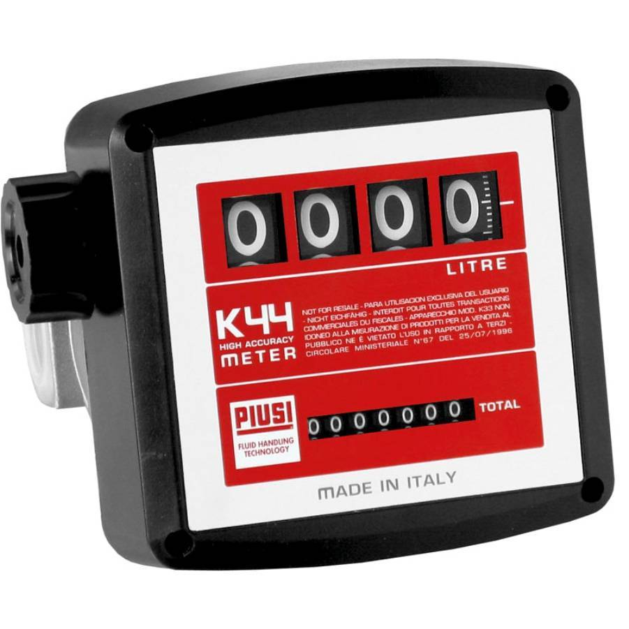 Medidor de vazão Mecânico Diesel 4 Digitos 120Lpm 2100P-4D - CASA DO FRENTISTA