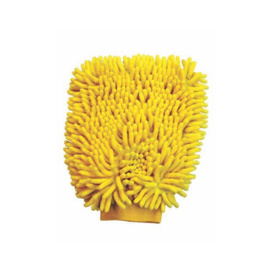 Esponja Tipo Luva em Microfibra Amarela 250x180mm Lupus 0365 - CASA DO FRENTISTA