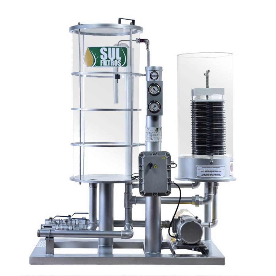 Filtro Prensa para Diesel Transparente Vazão 4800 L-Hr Prata - CASA DO FRENTISTA