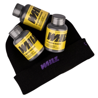 in-game leader Whiz - kit 3 potes - 950mg 60 cápsulas por pote + gorro Whiz
