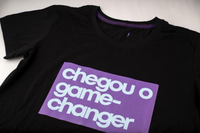 camiseta CHANGER Whiz básica preta - Whiz