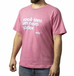 camiseta NOVO PODER Whiz básica rosa