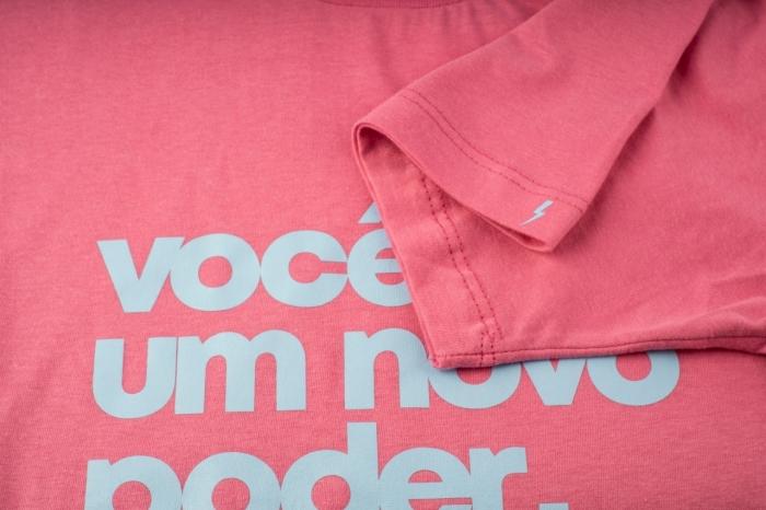 camiseta NOVO PODER Whiz básica rosa - Whiz