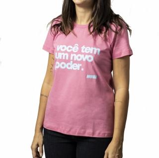 camiseta NOVO PODER Whiz baby look rosa