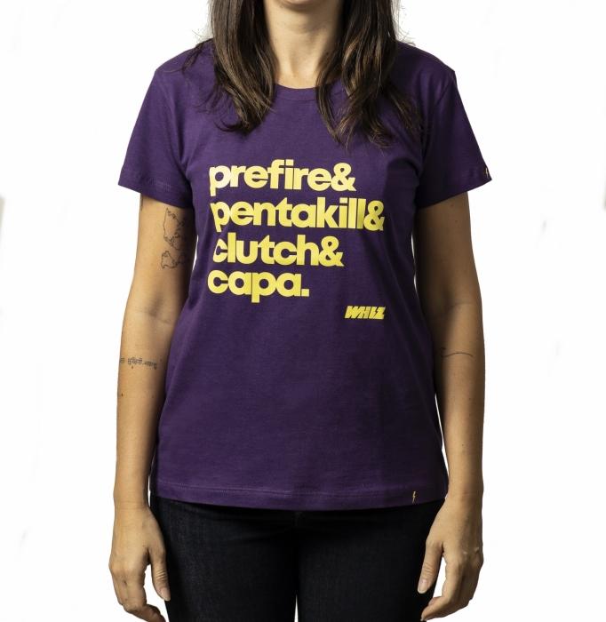 camiseta CLUTCH Whiz baby look roxa - Whiz