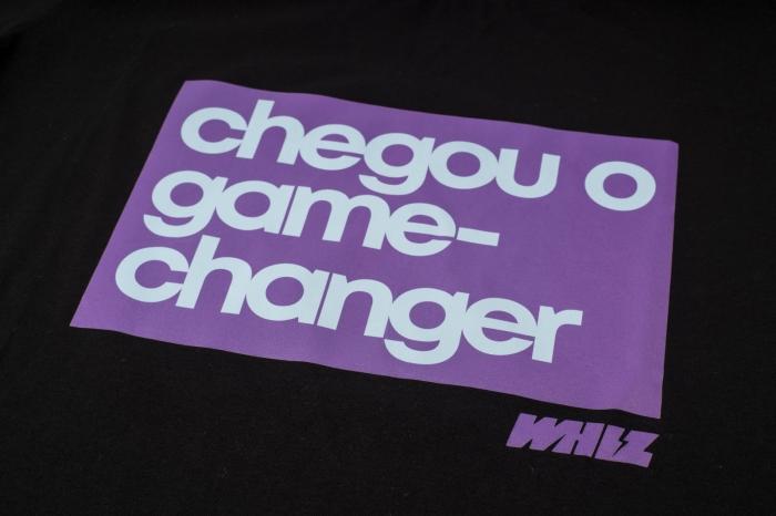 camiseta CHANGER Whiz baby look preta - Whiz