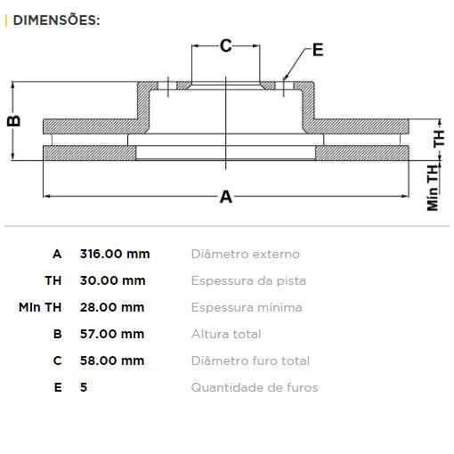 Par Dianteiro Discos de Freio Fremax Carbon+ 316x30mm [FXT 14+ / LGT 10-14 / 3.0 08-09 / 3.6 10-13] - Street Solutions