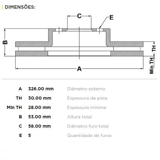 Par Dianteiro Discos de Freio Fremax Carbon+ 326x30mm [STi 01-17] - Street Solutions
