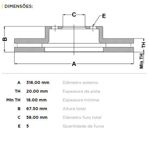 Par Traseiro Discos de Freio Fremax Carbon+ 316x20mm [STi 01-07] - Street Solutions