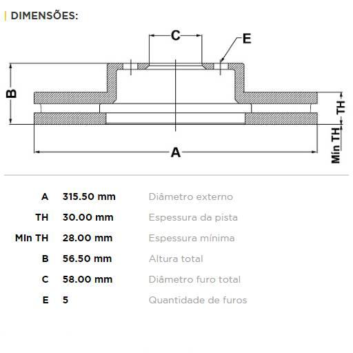 Par Dianteiro Discos de Freio Fremax Carbon+ 315.5x30mm [Tribeca 3.6L 08-12 / WRX 15+] - Street Solutions