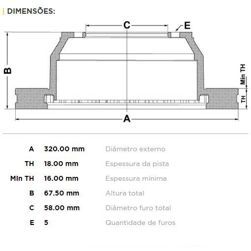 Par Traseiro Discos de Freio Fremax Carbon+ 320x18mm [Tribeca 3.6L 08-12] - Street Solutions