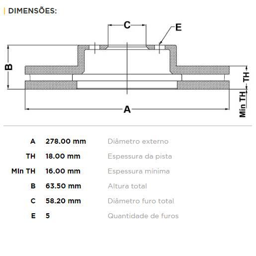 Par Traseiro Discos de Freio Fremax Carbon+ 278x18mm [FXT 2.0T 2014+] - Street Solutions